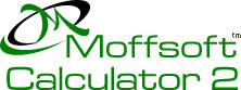 Moffsoft Calculator 2 - calculator software with powerful functions and an easy interface